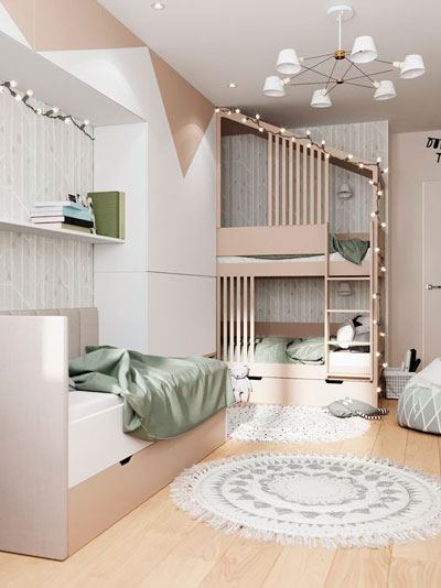 Детская комната в скандинавском стиле для подростка 9