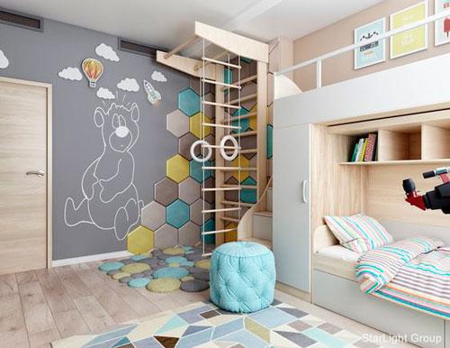 Детская комната в скандинавском стиле для подростка 10