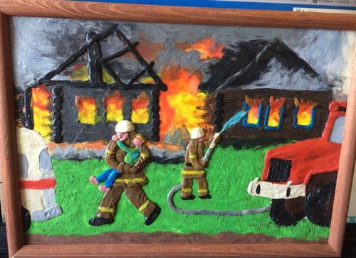 поделка в садик на тему пожарная безопасность 2