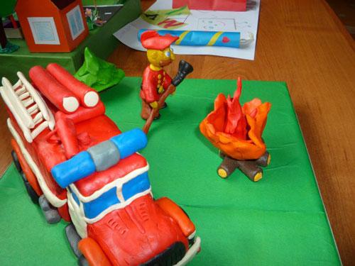 поделка в садик на тему пожарная безопасность 3