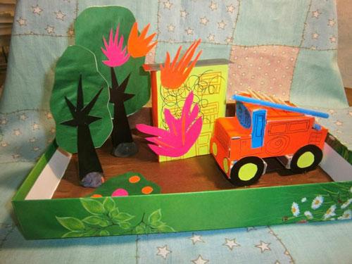 поделка в садик на тему пожарная безопасность 5