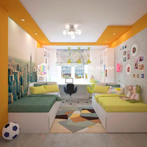 какой дизайн детской прямоугольной комнаты выбрать