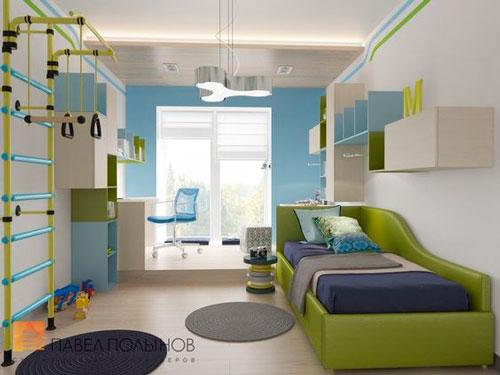какой дизайн детской прямоугольной комнаты выбрать 3
