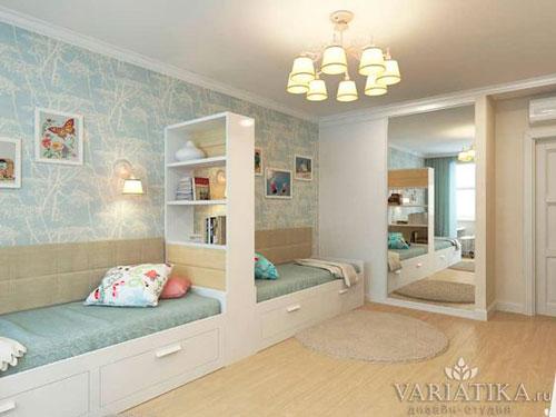какой дизайн детской прямоугольной комнаты выбрать 5