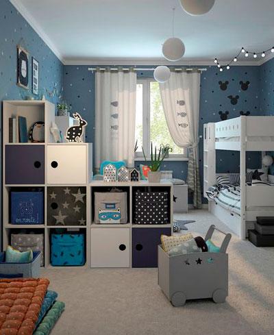 дизайн детской комнаты прямоугольной формы с окном 5