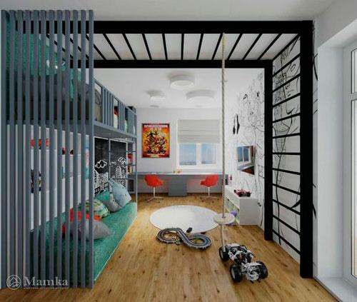 дизайн прямоугольной детской комнаты фото 10
