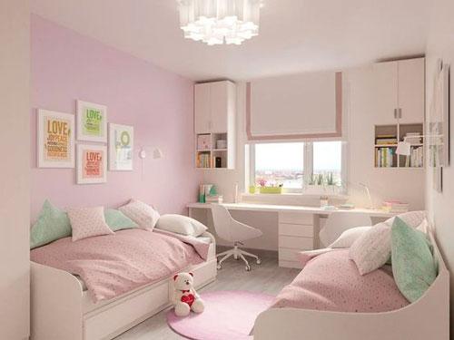 дизайн детской комнаты прямоугольной формы 6