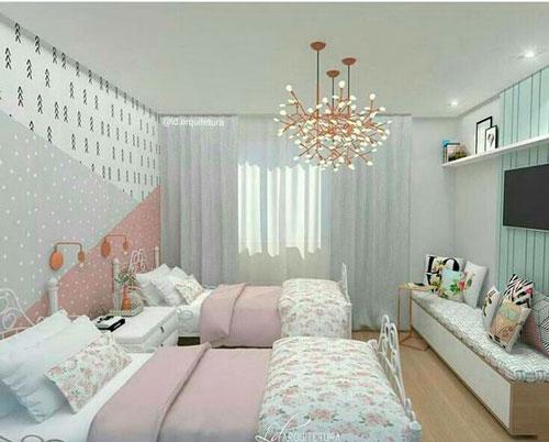 дизайн детской комнаты прямоугольной формы 10