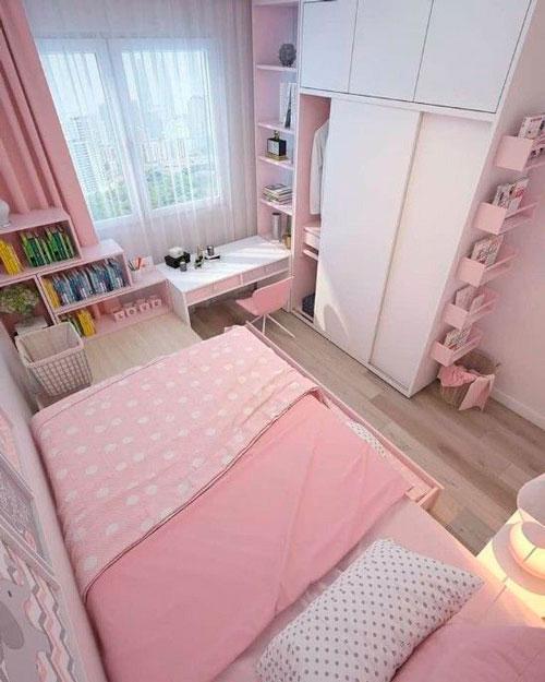 дизайн детской прямоугольной комнаты для школьника 9