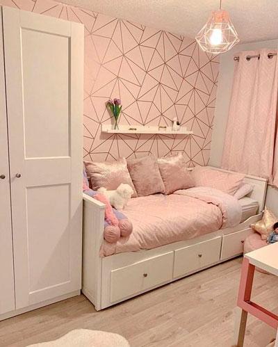 Дизайн детской прямоугольной комнаты для двоих 8