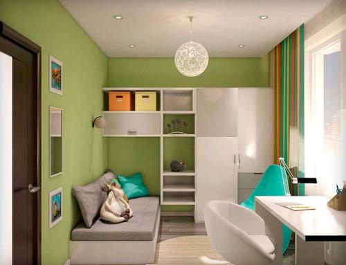 дизайн детской комнаты 11 кв м прямоугольная
