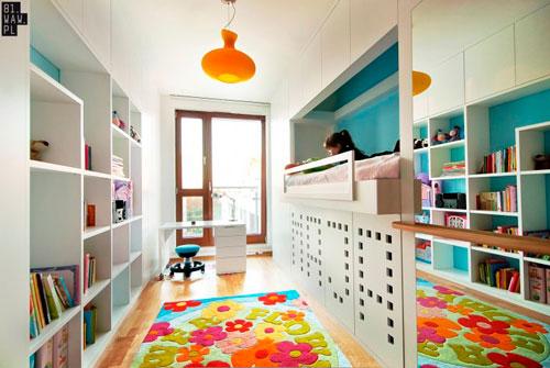 детская прямоугольная комната