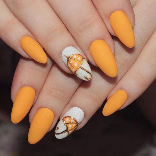 дизайн ногтей миндаль молодежные осень 2021 3