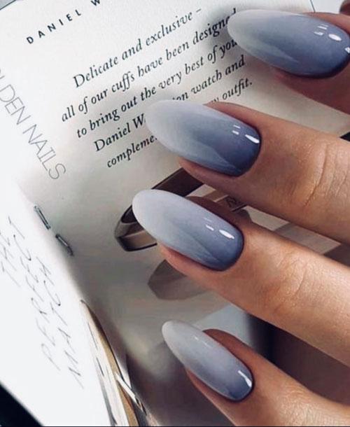 дизайн ногтей 2021 миндаль короткие осень 7
