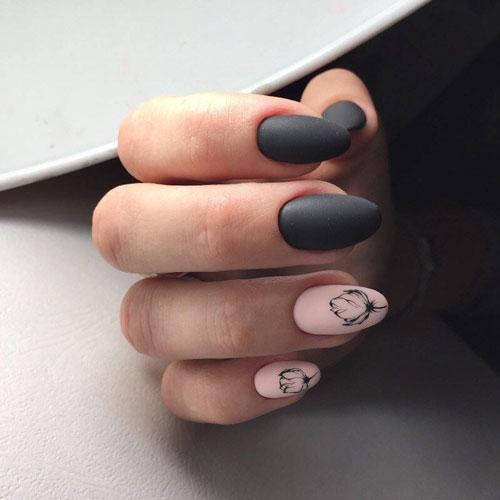 дизайн ногтей миндаль гель осень 2021 3