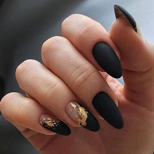 дизайн ногтей миндаль гель осень 2021