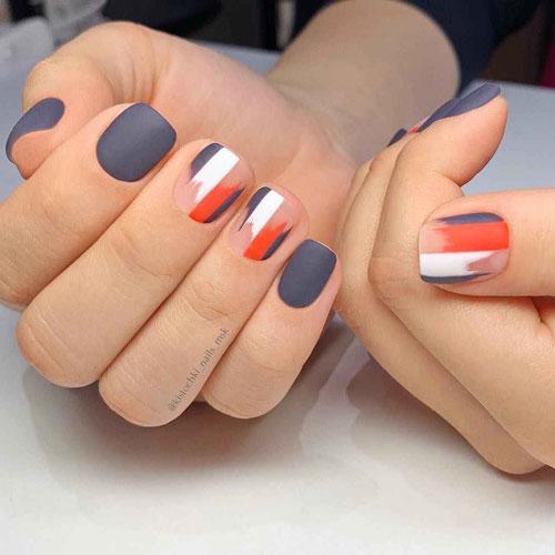 дизайн ногтей 2021 осень квадратные ногти фото 2