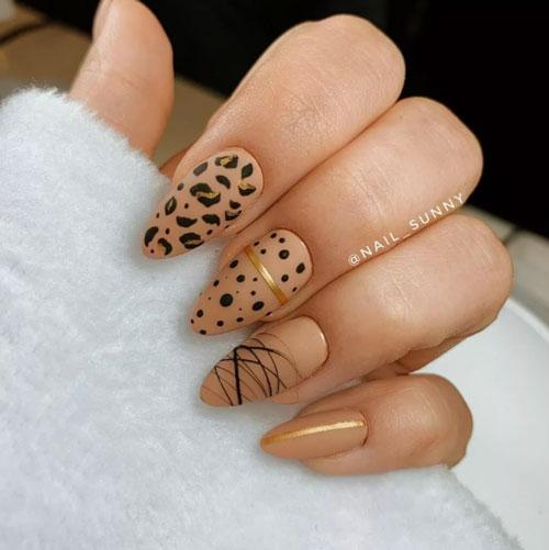 модный дизайн ногтей осень 2021 фото 2