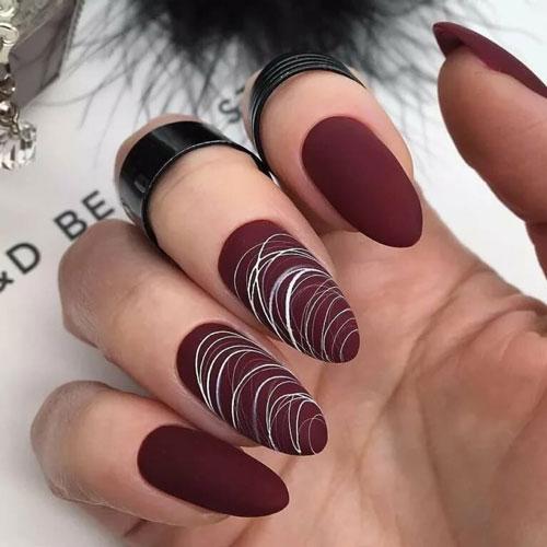 дизайн ногтей осень 2021 френч фото новинки