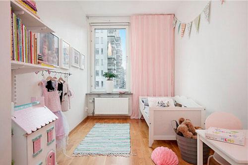 Дизайн прямоугольной комнаты для девочки