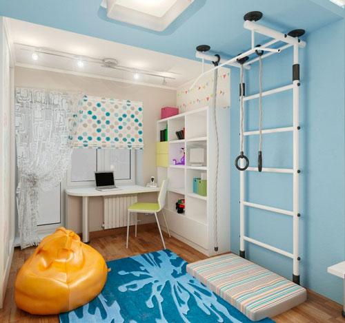 Дизайн прямоугольной комнаты для ребенка 6 лет