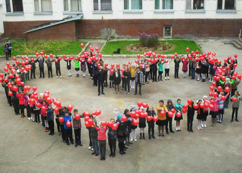 флешмоб на день учителя от учеников начальной школы