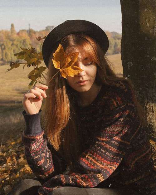 осенняя фотосессия на природе идеи для девушки 4