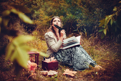 осенняя фотосессия на природе идеи для девушки 10