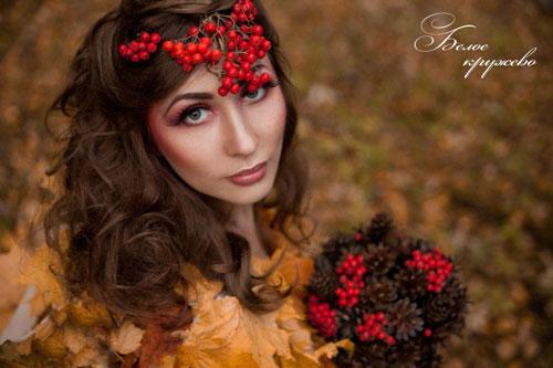 макияж на фотосессию на природе осенью 6