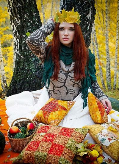 макияж на фотосессию на природе осенью 5