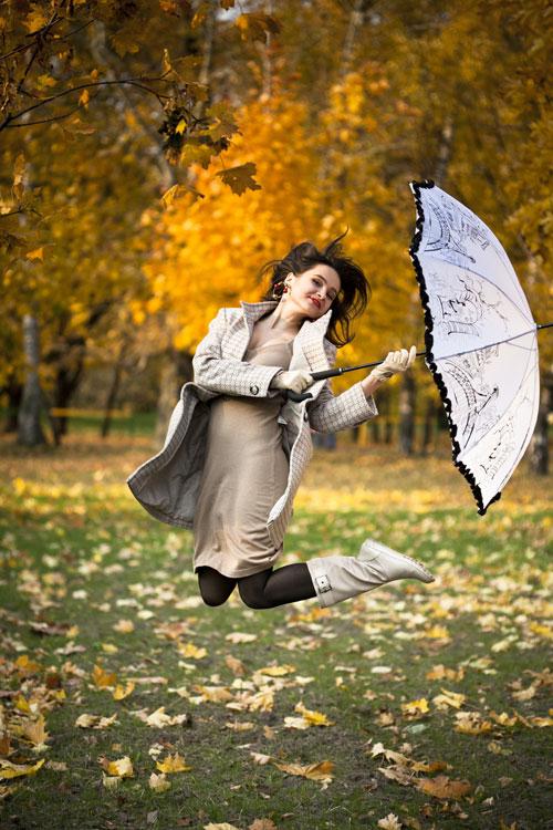 красивые позы для фотосессии на природе осенью 3