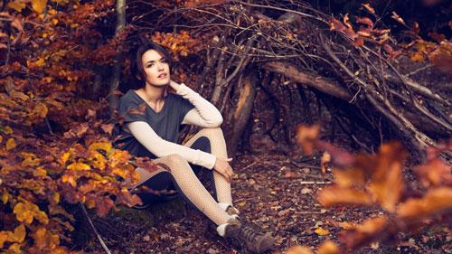 макияж на фотосессию на природе осенью 9