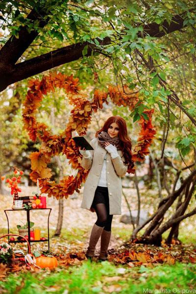 макияж на фотосессию на природе осенью 2