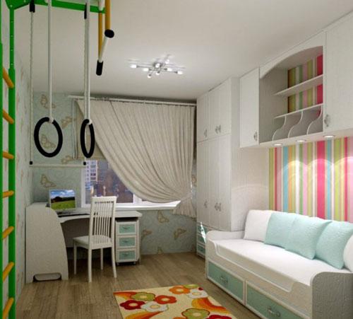 маленькая детская комната для двоих разнополых