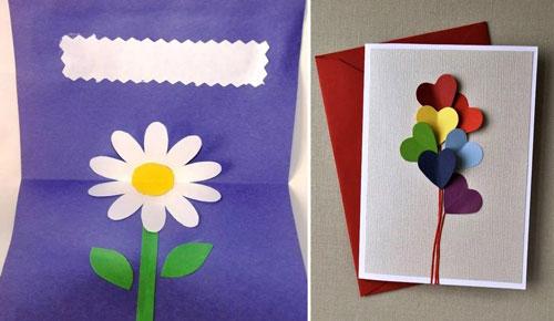 Как сделать открытку для мамы своими руками 2
