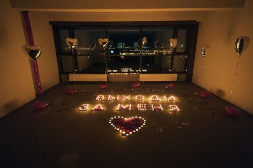 устроить романтический вечер любимому дома