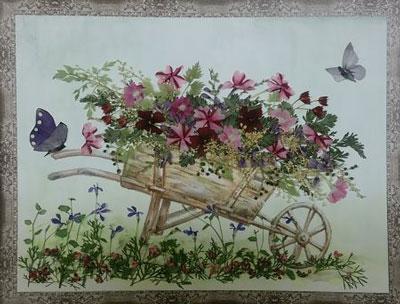 картины из листьев и цветов своими руками пейзажи для начинающих 7