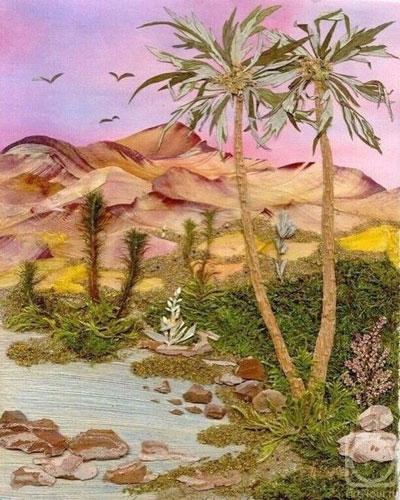 картины из листьев и цветов своими руками пейзажи для начинающих 5