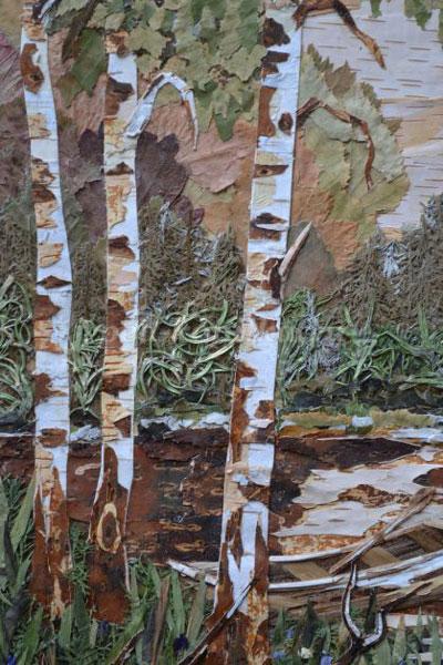 картины из листьев и цветов своими руками пейзажи для начинающих 3