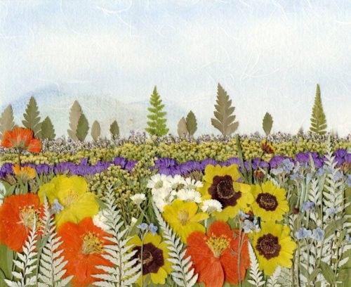 картины из листьев и цветов своими руками пейзажи для начинающих 2