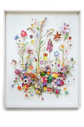 картины из листьев и цветов своими руками пейзажи 6