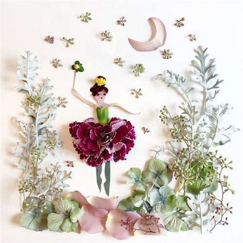 картины из листьев и цветов своими руками пейзажи 5