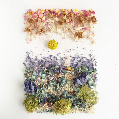 картины из листьев и цветов своими руками пейзажи 4