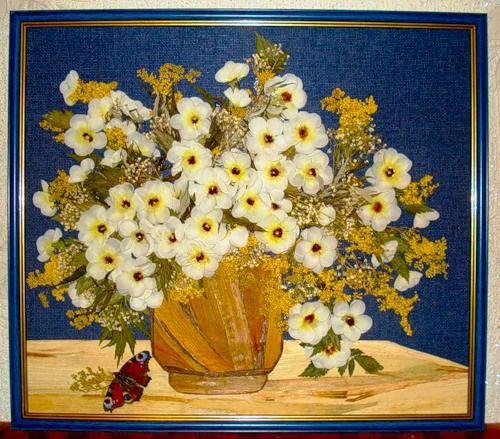 картины из листьев и цветов своими руками для детского сада 7