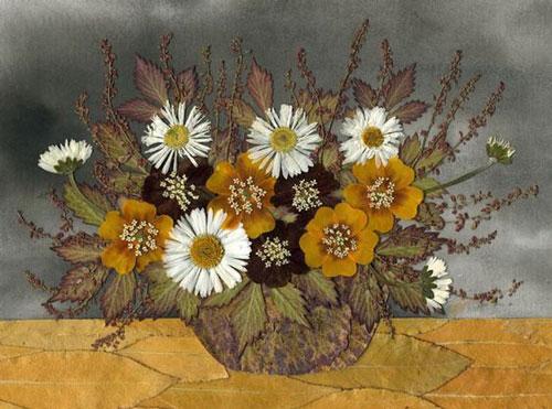 картины из листьев и цветов своими руками для детского сада 6