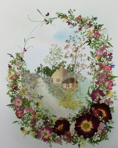 картины из листьев и цветов своими руками на тему осень 10