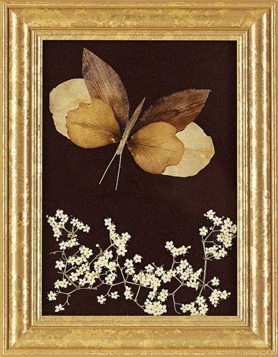картины из листьев и цветов своими руками на тему осень 9