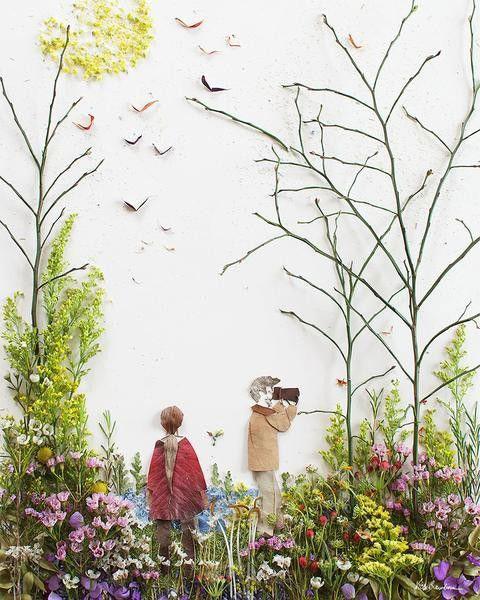 картины из листьев и цветов своими руками на тему осень 7