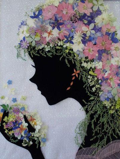 картины из листьев и цветов своими руками на тему осень 4