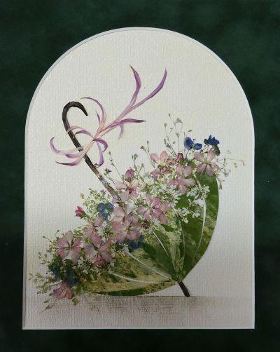 картины из листьев и цветов своими руками на тему осень 2